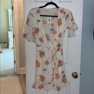 Vestique wrap dress